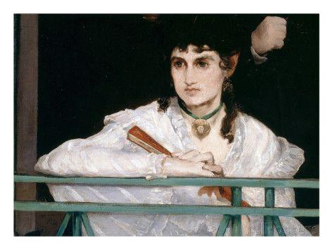 berthe morisot, portrait from le balcon (detail), 1868