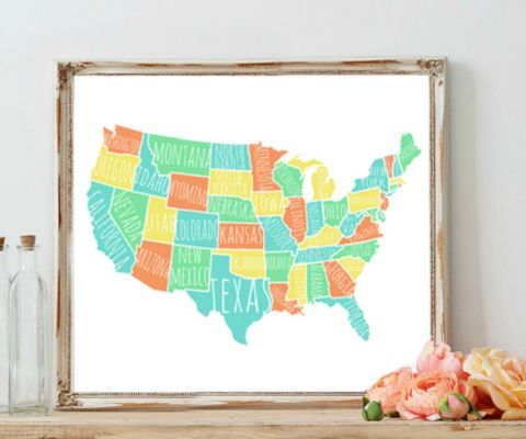 The Best Usa States Names Ideas On Pinterest Schools In Usa - Us state names map
