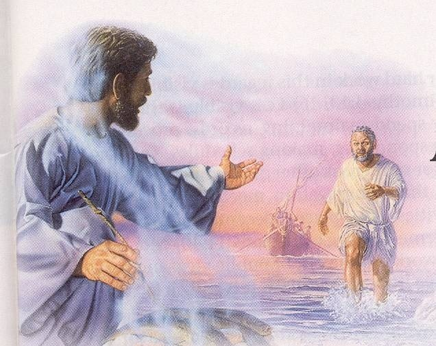 Peter walks on water Service to Jehovah Pinterest