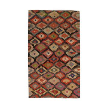 Vintage Kilim 4'5x8, $953, now featured on Fab.