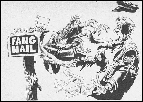 Famous Monsters Fang Mail header by Berni Wrightson (1970s)