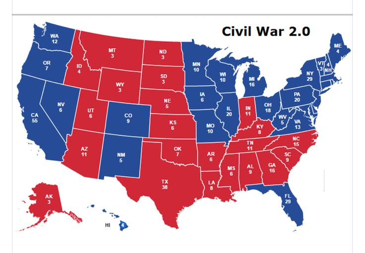 This Is What Americans Think Civil War 2.0 Would Look Like