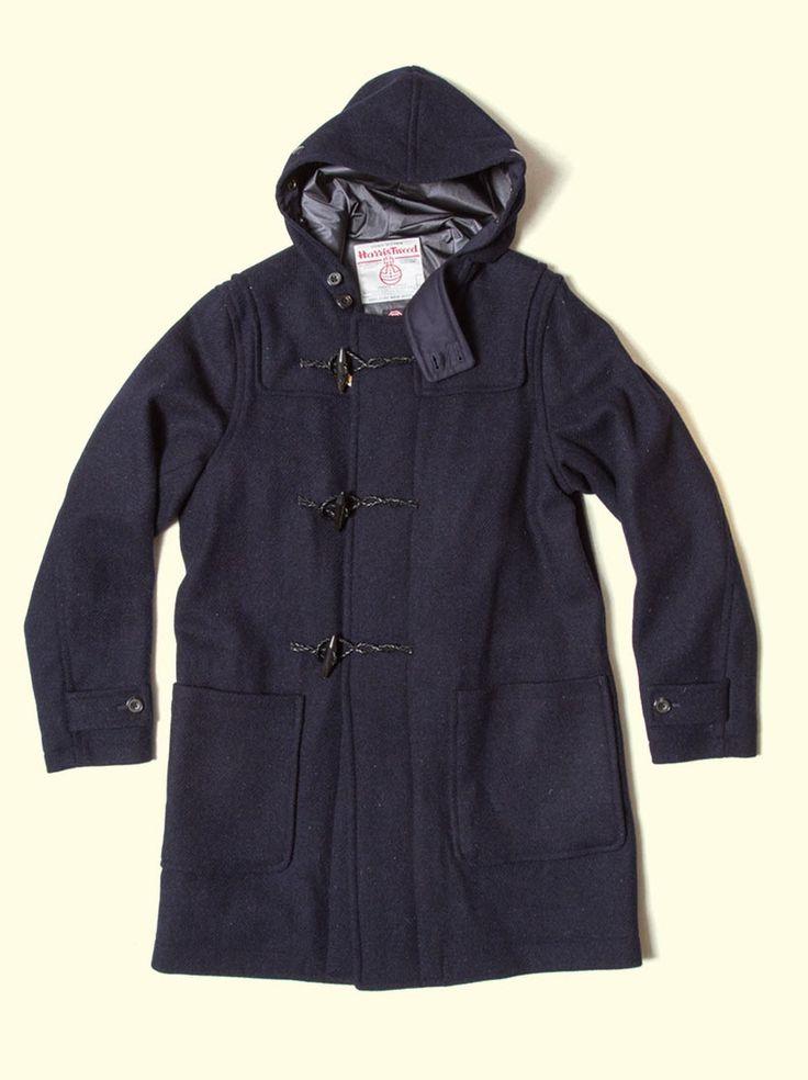 beams harris tweed duffle coat outerwear pinterest. Black Bedroom Furniture Sets. Home Design Ideas