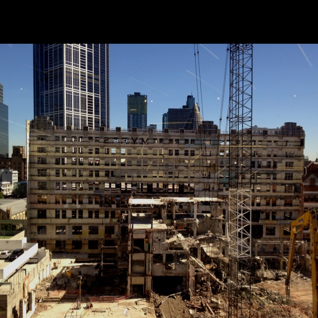 More beautiful destruction, old Myers department store Melbourne Australia .