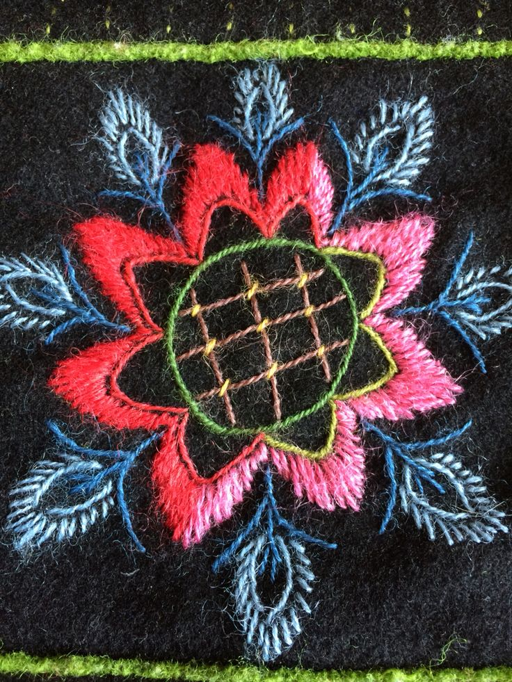 Part of a wool embroidery                                                                                                                                                                                 More