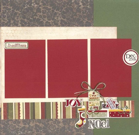 12x12 MERRY CHRISTMAS scrapbook page kit by KitsFromTheFARM
