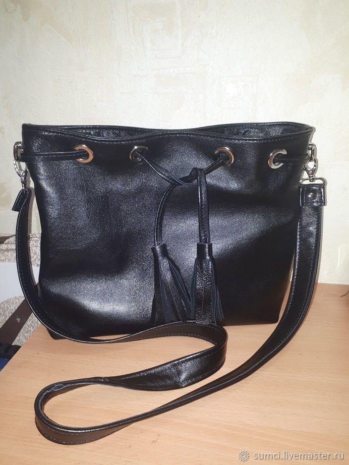 d97b4a195880 сумочка-мешок натуральная кожа – купить в интернет-магазине на Ярмарке  Мастеров с доставкой