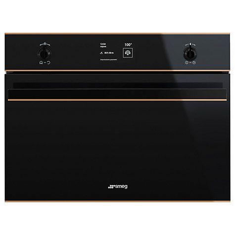 Buy Smeg SF4603VCNR Dolce Stil Novo Built-In Electric Single Oven, Black/Copper Online at johnlewis.com