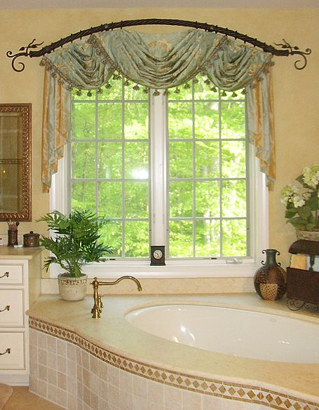 Best 25 drapery hardware ideas on pinterest drapery for Bathroom window treatments