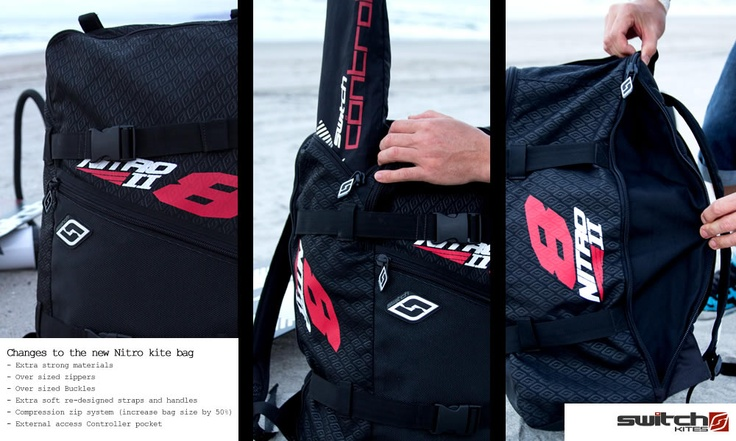 Switch Kites - Nitro2 Kite Bag  #Kitesurfing #Kiteboarding #SwitchKites #Nitro2