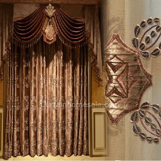 Custom Made Victorian Style Velvet Thermal Curtain In Coffee Color Not Included Valance In 2019