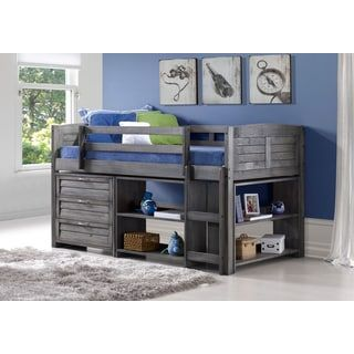 Shop for Donco Kids Twin Louver Low Loft w/ 3-Drawer Chest, Shelves, and Small Bookcase in Antique Grey. Get free delivery at Overstock.com - Your Online Furniture Outlet Store! Get 5% in rewards with Club O! - 20085581