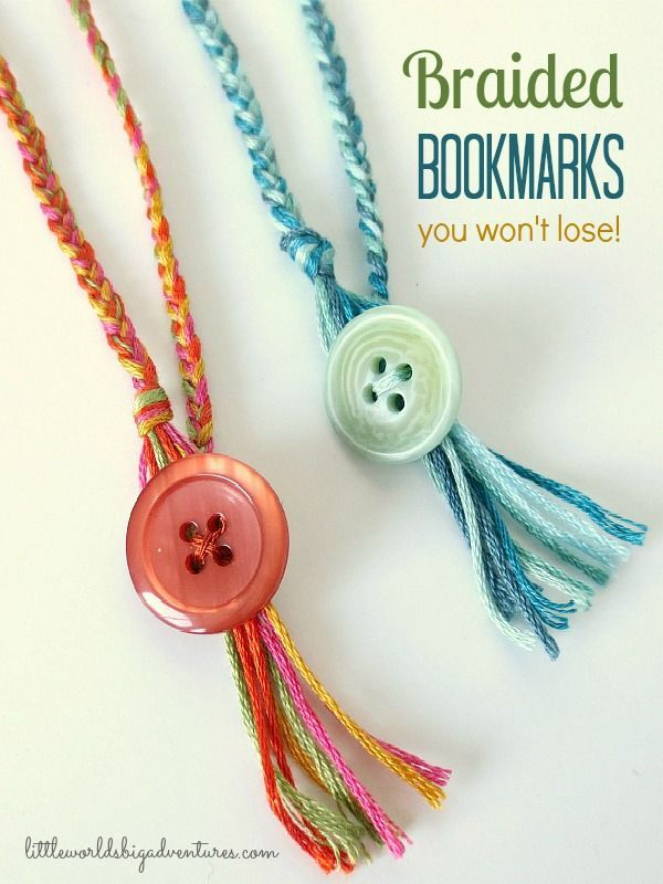 How to make braided bookmarks you won't lose! | Little Worlds