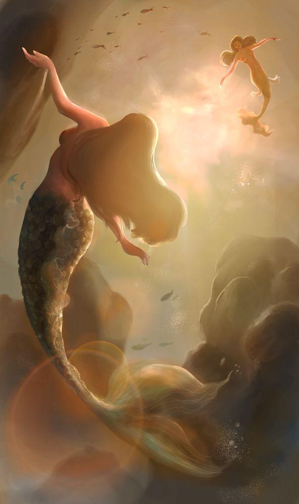 Mermaids by artspell on deviantART