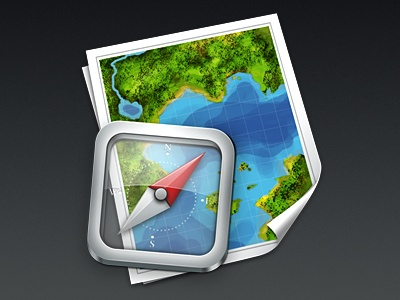 Map and Compass App Icon
