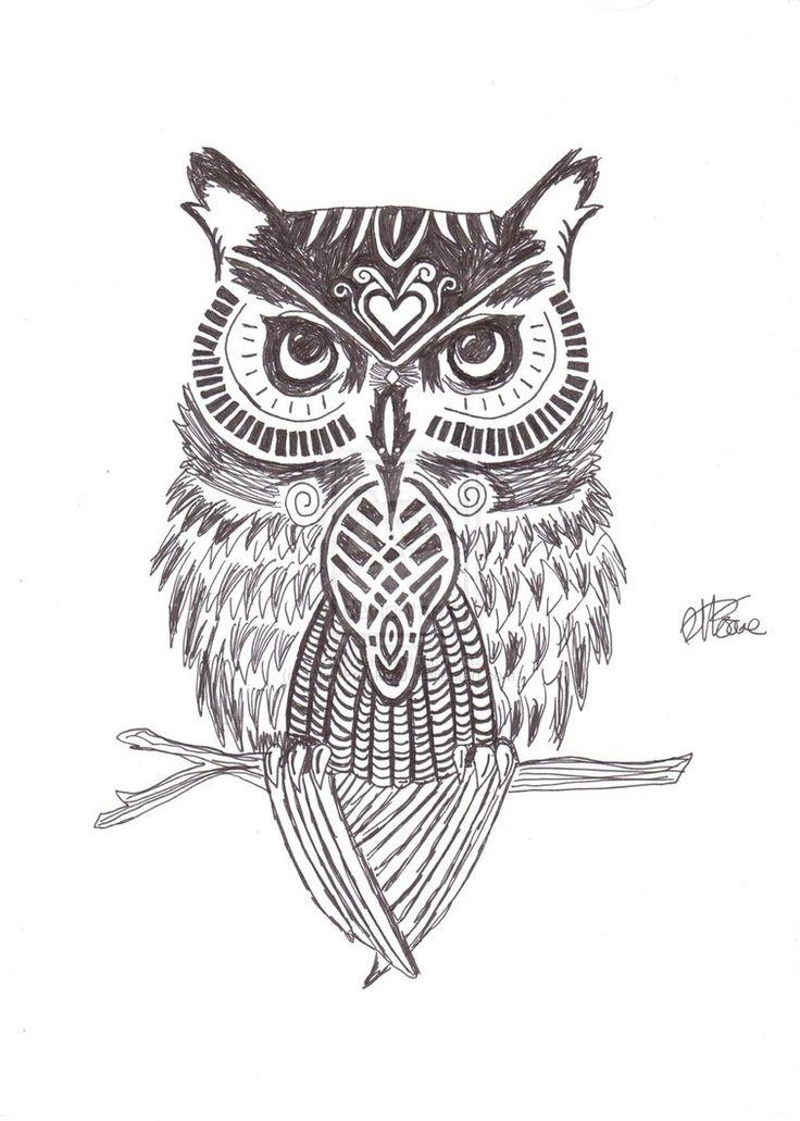 owl drawing google search zeichnen pinterest eulen t towierungen zeichnungen und eule. Black Bedroom Furniture Sets. Home Design Ideas