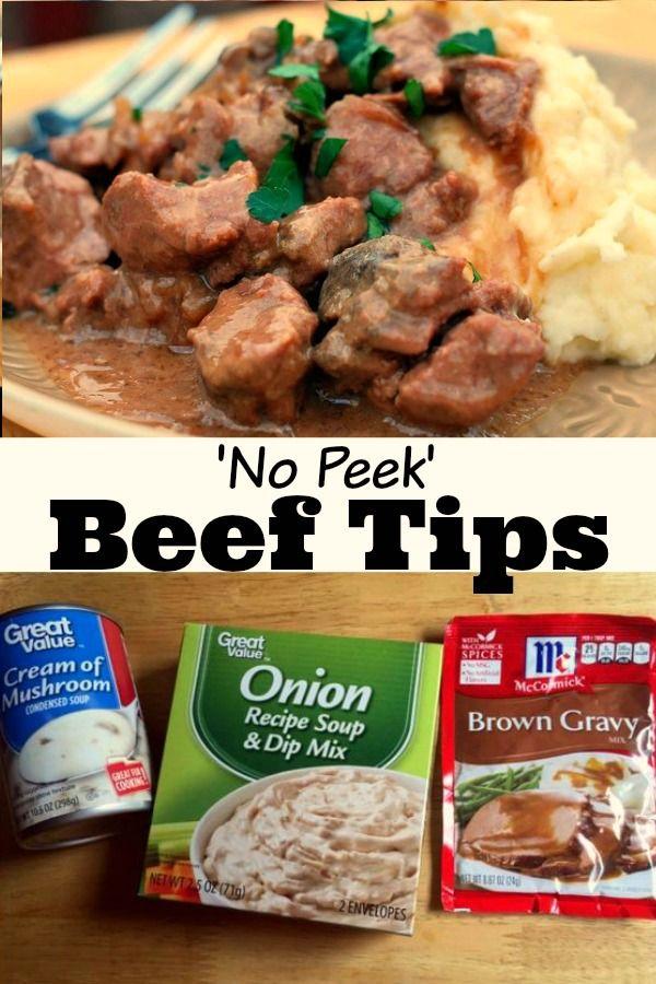 No Peek Beef Tips Gravy Recipe Stew Meat Recipes Beef Tips And Gravy No Peek Beef Tips