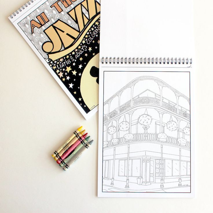 New Orleans Building Printable Coloring Page Great Architecture Lovers Gift As Print Unique Anti Stress For Mom And Daughter