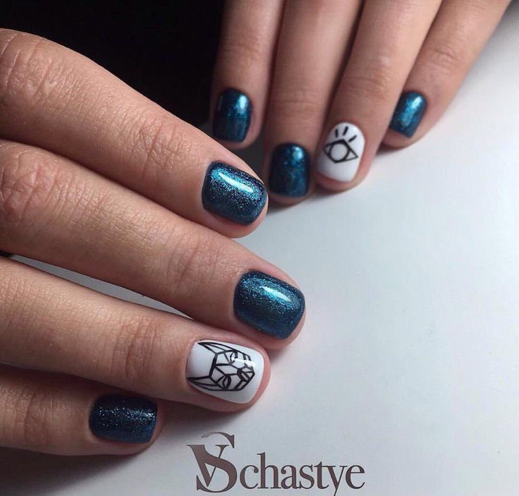 Fashion nails 2017, Gel polish short nails, Glitter nails, Hardware nails, Manicure for young girls, ring finger nails, Short nails with a picture, Square nails