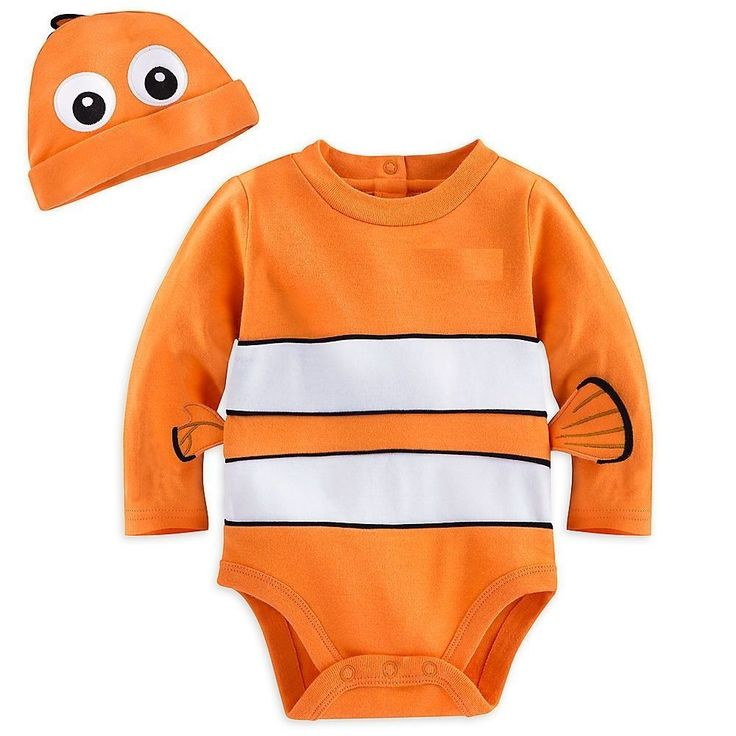 Disney Store Finding Nemo Baby Costume Halloween Outfit & Hat Size 18-24 months #DisneyStore #CompleteOutfit