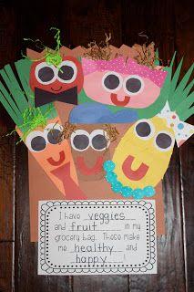 Fruit and Veggie People...MrsLeesKinderKids