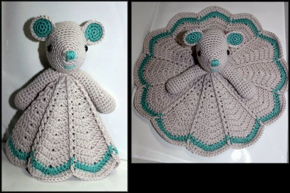 Crochet Mouse Security Blanket by HazelCrochet on Etsy