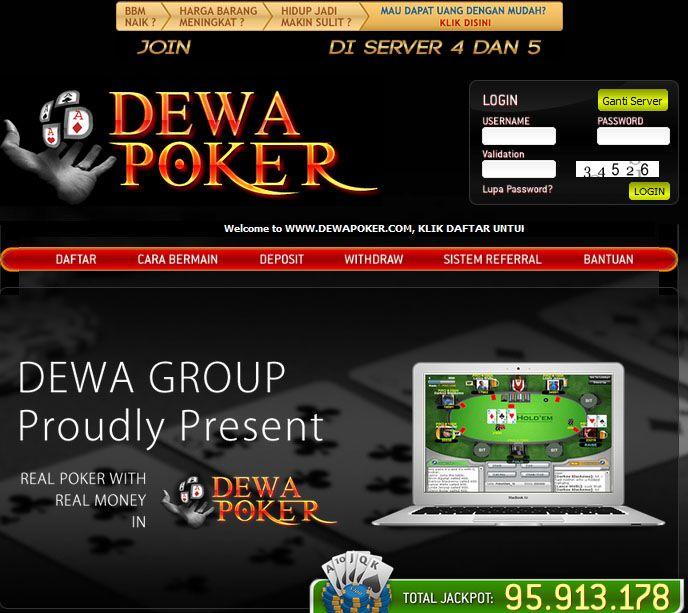 dewapoker.com tempat atau penyedia permainan texas poker secara real money, minimal deposit Rp. 50.000,- Support BCA dan Bank Mandiri