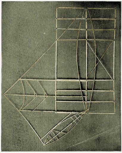 Cartes polynésiennes de la houle en bouts de bois