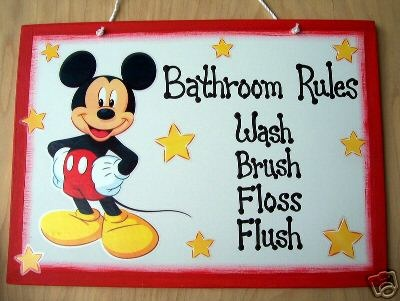 mickey mouse bathroom sign - Google Search