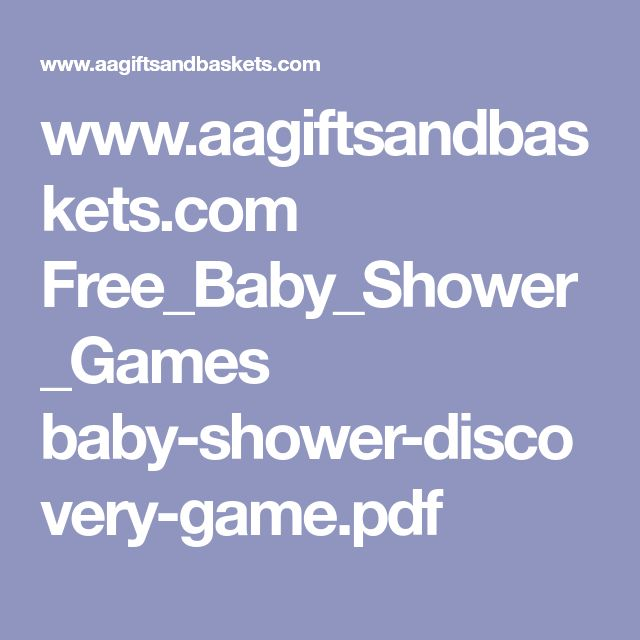 www.aagiftsandbaskets.com Free_Baby_Shower_Games baby-shower-discovery-game.pdf