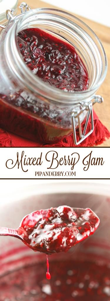 Mixed Berry Jam | This is my FAVORITE homemade jam. It is gone in DAYS in our house. Super easy to make and way better than store-bought jelly.