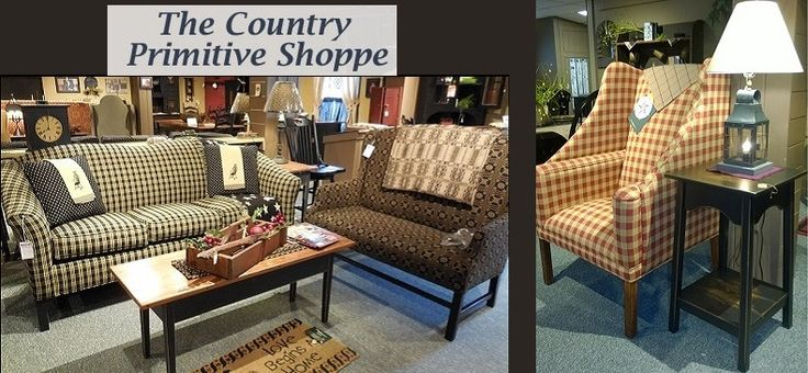 Country Primitive Upholstery Furniture, Amish Made