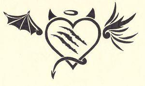 Angel Devil Heart - Art Trade by maddi-san