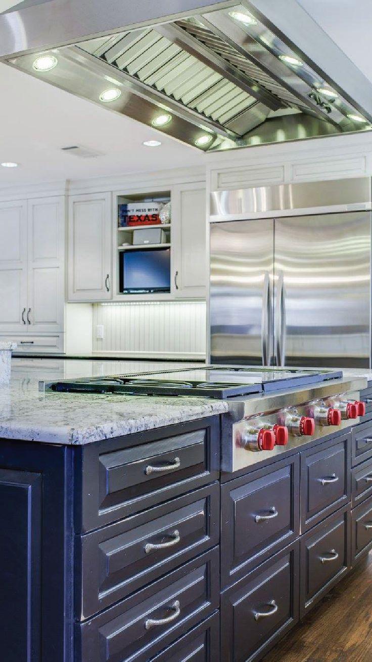 Proline range hood reviews - Stainless Island Range Hood From Proline Range Hoods Customer Kitchen Photo