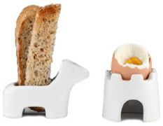 My Egg and Soldiers Toast and Egg Holders eclectic serveware