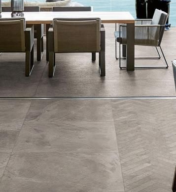 Mystone - Ardesia: Pavimenti per interni ed esterni: idee e soluzioni in ceramica e gres  - Marazzi