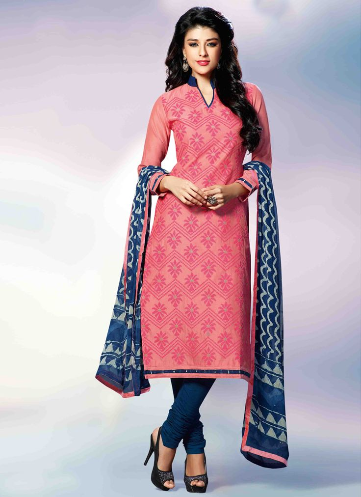 http://www.sareesaga.com/index.php?route=product/product&product_id=20355 Work	:	Embroidered Print	 Style	:	Churidar Suit Shipping Time	:	10 to 12 Days	 Occasion	:	Party Casual Fabric	:	Chanderi	 Colour	:	Pink For Inquiry Or Any Query Related To Product,  Contact :- +91 9825192886
