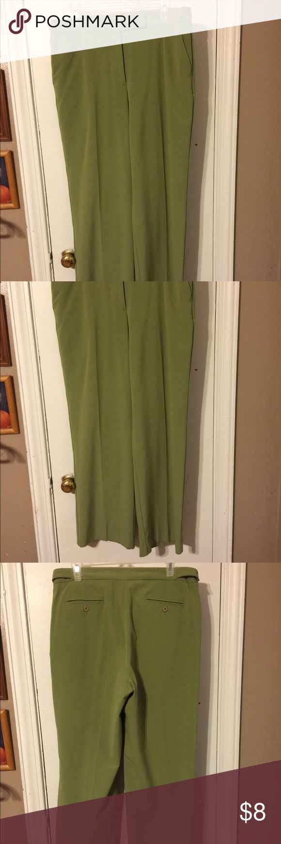 Pants by Emma James size 12 Green dress pants adjustable waist polyester rayon spandex in very good condition Emma James Pants Trousers