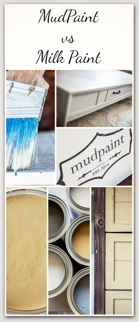 Mud paint vs. Milk paint- Read before you choose! Take a minute to CLICK the link and access hundreds of other tutorials, tips and ideas for DIY home projects.  This site is a MUST for any DIYer.