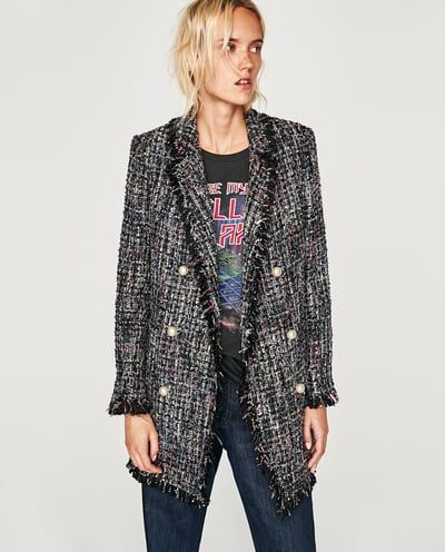 8364da1d4cc TWEED JACKET WITH FAUX PEARL BUTTON DETAILS 95.99 GBP Buttons For Sale,  Chanel Jacket,