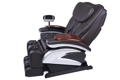 New Full Body Shiatsu Massage Chair Recliner w/Back Roller & Heat Stretched Foot