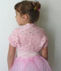 Little Ballerina Shrug | FaveCrafts.com  http://www.favecrafts.com/Knitting-for-Kids/Little-Ballerina-Shrug//ml/1