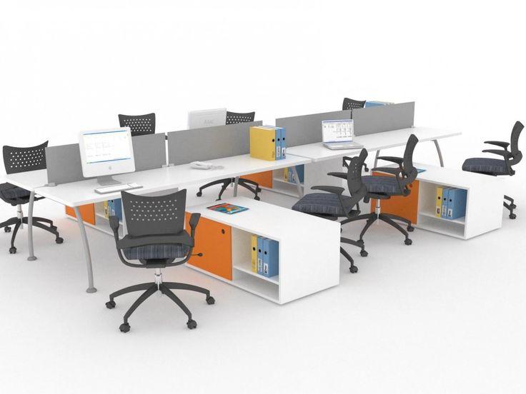 Espacio abierto dise o que permite trabajar de manera for Escritorios modulares para oficina