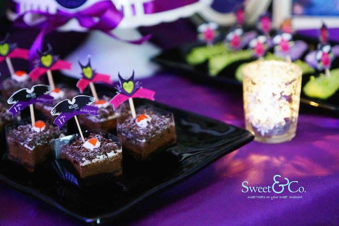Maleficent Themed 17th Birthday Party via Kara's Party Ideas KarasPartyIdeas.com The Place for All Things Party! #maleficent #maleficentparty #sleepingbeauty #maleficentpartyideas (10)