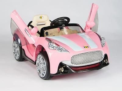 awesome Pink Maserati Style 12V Kids Ride On Car Battery Power Remote Control RC Wheels - For Sale Check more at http://shipperscentral.com/wp/product/pink-maserati-style-12v-kids-ride-on-car-battery-power-remote-control-rc-wheels-for-sale/