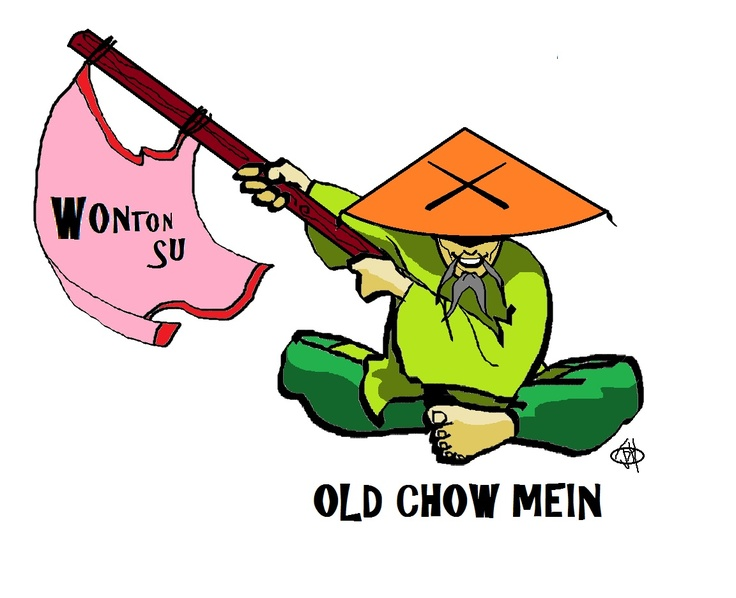 Old Chow Mein... pose 2  Buffet master!
