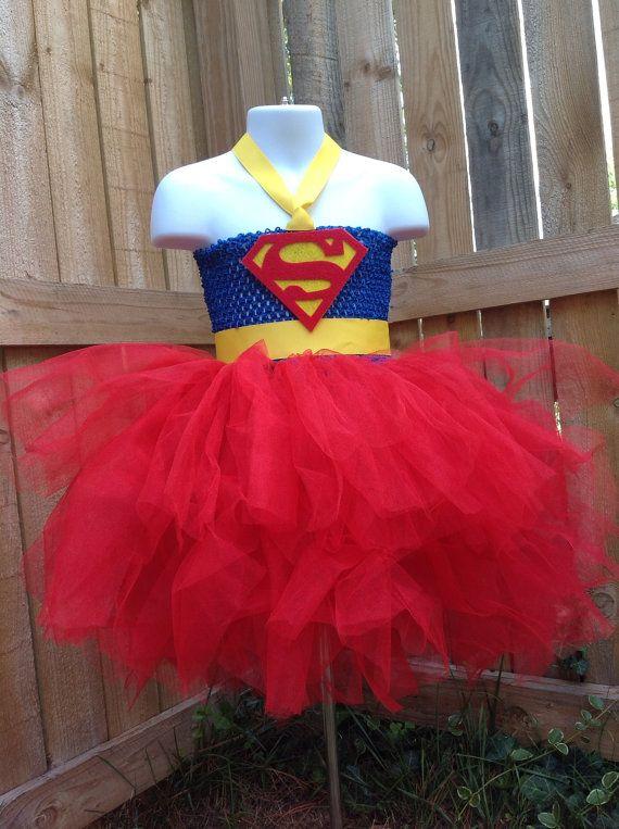Supergirl tutu dress...so cute! I'd use a t-shirt though