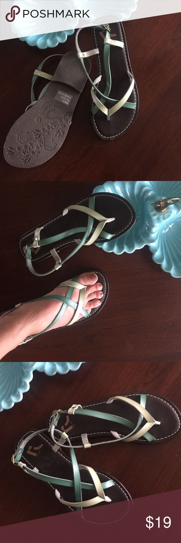 Pretty Sandals size 6 Pretty color leathers N report N report Shoes Sandals