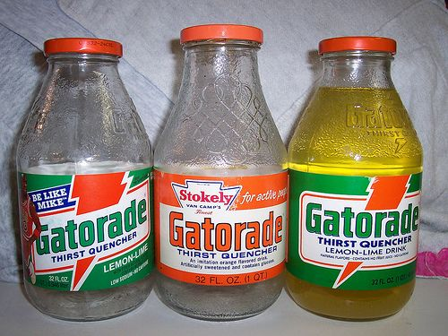 Gatorade in Glass Bottles.. I remember my brother Michael Webber always drinking these by Kathy-Jo