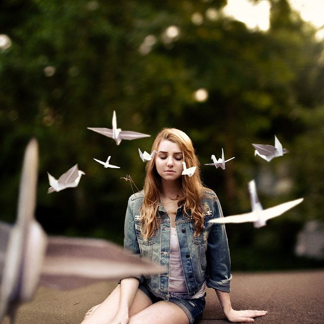 352 by Rachel Baran, via Flickr // paper cranes